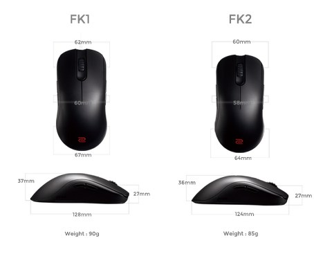 ZOWIE FK2 Gaming Mouse 3200dpi
