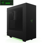 NZXT S340 Designed by Razer Black/Green with logo