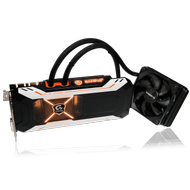 GeForce GTX 1080 Waterforce Xtreme Gaming, Water cooling, 8GB GDDR5X, PCIe 3.0, DL-DVI-D, 3x HDMI, 3x DP 1.4
