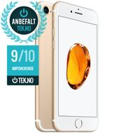"iPhone 7 256GB Gull 4.7"" Retina, 12MB, A10-chip, ac-Wi-Fi, 4G/LTE, BT4.2, NFC, iOS 10 - Uten abonnement"
