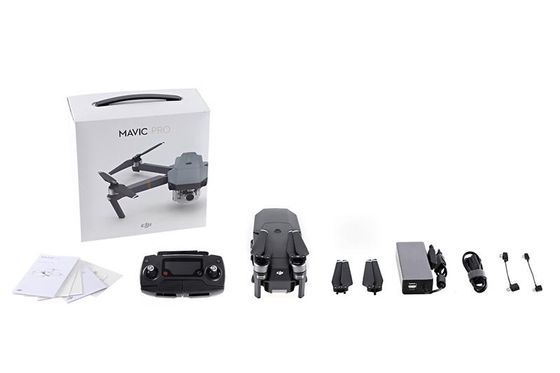 Mavic Pro RTF 4K Fly More Combo, 2 ekstra batterier,  billader, ladehub for 4 batterier og sekk