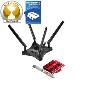 ASUS PCE-AC88 Dual-Band AC3100 Wireless PCIe Adapter (PCE-AC88)