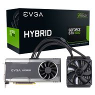 EVGA GeForce GTX 1080 FTW Hybrid Gaming, 8GB GDDR5X, Water cooled, 120mm radiator, Pascal (08G-P4-6288-KR)