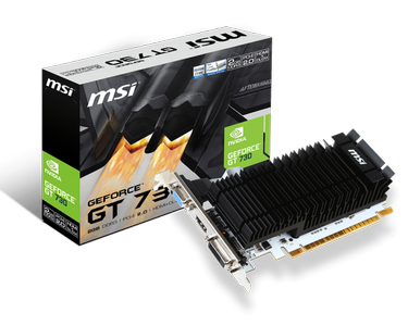 MSI GeForce GT 730 2GB 64bit, PCIe 2.0, HDMI, DL DVI-D, VGA (N730K-2GD3H/LP)