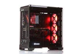 ROG i834K Gaming PC Intel Core i5-7600K, 16GB, 250GB PCIe SSD + 2TB HDD, GeForce GTX 1070 8GB, 550W, Uten operativsystem (MULTICOM-i834K-KBLFB)