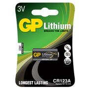 GP Batteri Lithium CR123A 3V Z-Wave/Foto