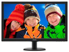 "Philips 273V5LHAB 27"" Full-HD LED 1920x1080,  5ms, 10m:1, stereohøyttalere,  HDMI, DVI, VGA"