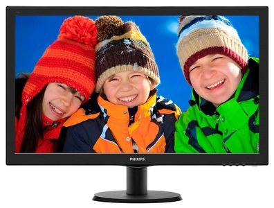 "Philips 273V5LHAB 27"" Full-HD LED 1920x1080,  5ms, 10m:1, stereohøyttalere,  HDMI, DVI, VGA (273V5LHAB/00)"