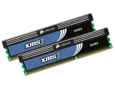 Corsair XMS3 DDR3 1333MHz 8GB CL9 Kit w/2x 4GB XMS3, CL9-9-9-24,  for Phenom II and Core i3/i5/i7, 1.60v - Demovare (CMX8GX3M2A1333C9-Demo)