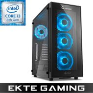 Noox i620C Gaming PC Intel Core i3-8350K, 8GB, 256GB PCIe SSD, 1TB HDD, GeForce GTX 1060 3GB, 600W, Windows 10 Home - Demovare (PC-360)