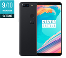 "OnePlus 5T Midnight Black A5010 6"" AMOLED, 20MP+16MP,  8GB RAM, 128GB, Snapdragon 835, BT5, USB-C med hurtiglading,  Android 7.1 (Nougat) - Demovare"