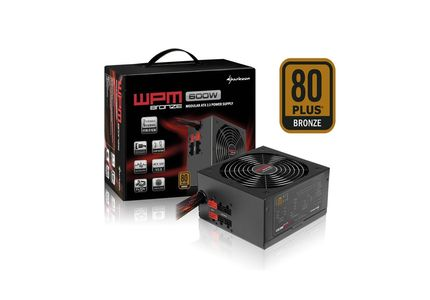 Sharkoon WPM600 Bronze Power Supply 600W, with cable management (4044951013654)