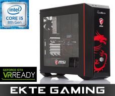 i827C MSI FactPro Gaming-PC Intel Core i5-8600K, 8GB DDR4 RAM, 250GB SSD, 2TB Harddisk, GeForce GTX 1060 6GB, 700W, Uten operativsystem (MULTICOM-i827C-CFLFB)