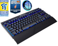 Corsair Gaming K63 trådløst tastatur Blå LED, Cherry MX Red, 2.4GHz, Bluetooth 4.2, USB