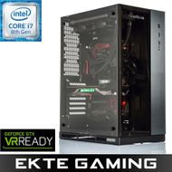 Drogo i920C Gaming PC Intel Core i7-8700K, 8GB, 256GB PCIe SSD + 2TB HDD, med Microsoft Windows 10 Home Pro OEM norsk, demobrukt (PC-371)