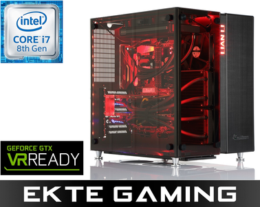 Drogo i950C Gaming PC Intel Core i7-8700K, 32GB, 500GB PCIe SSD + 6TB HDD, 2x GeForce GTX 1080 Ti 11GB i SLI, 850W, Windows 10 Home - Demovare (PC-375)