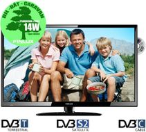 "FINLUX 32"" LED-TV/ DVD 12V/230V HD, Trippel-tuner,  HDMI, VGA, USB PVR, kun 14-19W, 32C285FLXD,  demobrukt (383285D-Demo)"
