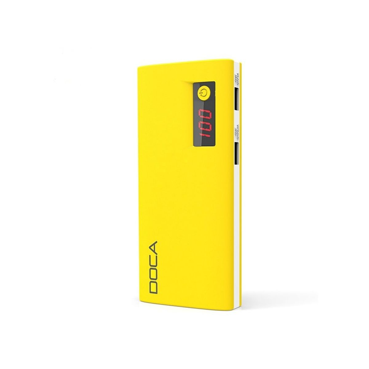 DOCA 13.000mAh USB-C Power Bank Gul, Qualcomm Quick Charge 3.0 (D566BC-YELLOW)