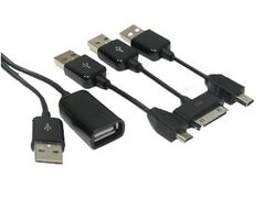ENVEON USB Multi Cable kit - iPhone, Mini-USB, Micro-USB