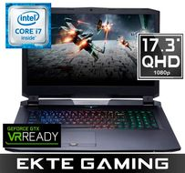 "Kunshan P775D Gaming PC 17"" QHD, Intel Core i7-7700K, 16GB, 500GB PCIe SSD, 2TB SSHD, GTX 1070, demobrukt (PC-388)"