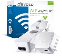 devolo dLAN 550 WiFi Starter Kit Powerline,  demobrukt (9638-Demo)
