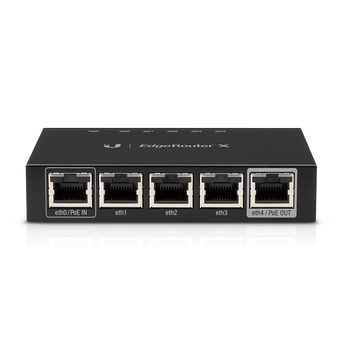Ubiquiti EdgeRouter ER-X  5 Gigabit RJ45 ports, 1x24V Passive PoE Passthrough (ER-X)
