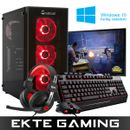 Multicom Noox A810R Gaming PC-pakke med skjerm, tastatur, mus, headset og Windows 10 Home