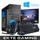 Multicom Tycho A516A Gaming PC-pakke med skjerm, tastatur, mus, headset og Windows 10 Home