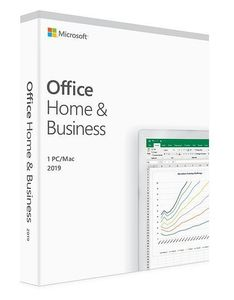 Microsoft Office Home & Business 2019 Bokspakke,  1 PC/Mac, medieløs, Norsk (T5D-03211)