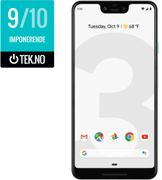 """Google Pixel 3 XL ClearlyWhite 6.3"""" OLED, 12.2MP, 4GB, 64GB, Snapdragon 845, USB-C, Android 9 Pie, demobrukt"""
