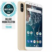 "Xiaomi Mi A2 Gold 64GB 5.99"" Full-HD+, 20MP+12MP,  4GB, 64GB, Snapdragon 660, Dual SIM, USB-C, Android 8.1 (Oreo) Android One, Uten abonnement"