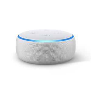 Amazon Echo Dot (3rd Generation) Smarthøyttaler,  ac-Wi-Fi, Bluetooth - Sandstone,  demobrukt (AMAZON-ECHO-DOT3-WH-Demo)