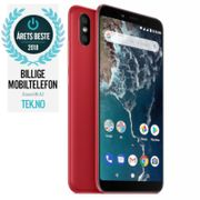 """Xiaomi Mi A2 Red 64GB 5.99"""" Full-HD+, 20MP+12MP,  4GB, 64GB, Snapdragon 660, Dual SIM, USB-C, Android 8.1 (Oreo) Android One, Uten abonnement"""