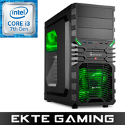 Multicom Tycho i516K Gaming PC Intel Core i3-7320, 8GB, 120GB SSD, 1TB Harddisk, RX 570 8GB, 450W, Uten operativsystem, demobrukt