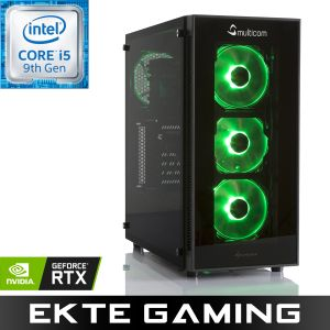 Noox i614CR RGB Gaming-PC Intel Core i5-9400F, 16GB, 240GB SSD, 1TB HDD, GeForce RTX 2060 6GB, 500W, Uten operativsystem (MULTICOM-i614C-CFLRFB)