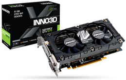 INNO3D GeForce GTX 1070 HerculeZ Twin X2 V4, 8GB GDDR5, HDMI 2.0b, DisplayPort 1.4, 2x DL-DVI-D