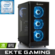 Multicom Noox i625CR RGB Gaming-PC Intel Core i7-9700K, 8GB, 256GB PCIe SSD, 2TB HDD, GeForce RTX 2060 6GB, 600W, Uten operativsystem