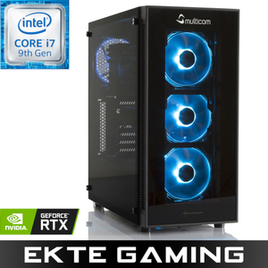 Noox i625CR RGB Gaming-PC Intel Core i7-9700K, 8GB, 256GB PCIe SSD, 2TB HDD, GeForce RTX 2060 6GB, 600W, Uten operativsystem (MULTICOM-i625C-CFLRFB)