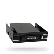 "Chieftec External/ Swappable Harddisk Case for 2.5"" S-ATA HDD USB 3.0 Black Box Series w/5.25"" and 3.5"" Swap Frames (CEB-5325S)"