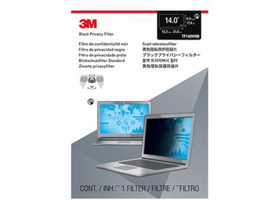 "3M Touch Privacy Filter for 14.0"" Widescreen Laptop - Standard Fit with COMPLY Attachment System notebookpersonvernsfilter (TF140W9B)"