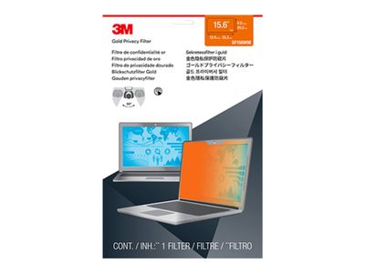 "3M personvernfilter i gull for Full Screen 15.6"" Widescreen Laptop with COMPLY Attachment System notebookpersonvernsfilter (GF156W9E)"