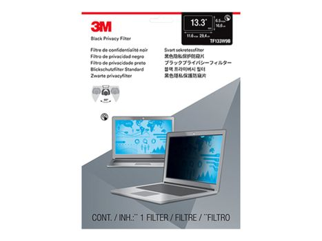 """3M Touch Privacy Filter for 13.3"""" Laptops 16:9 with COMPLY notebookpersonvernsfilter (TF133W9B)"""