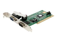StarTech 2 Port PCI RS232 Serial Adapter Card with 16550 UART - Seriell adapter - PCI - RS-232 x 2