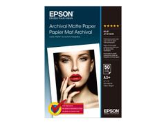 Epson Archival - Matt - Super A3/B (330 x 483 mm) - 192 g/m² - 50 ark papir - for SureColor P5000, P800, SC-P10000, P20000, P5000, T3100, T3400, T5100, T5400