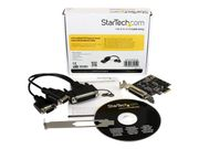 StarTech 2 Port RS232 PCI Express Serial Card w/ Breakout Cable - Seriell adapter - PCIe lav profil - RS-232 x 2 (PEX2S553B)