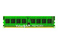 Kingston ValueRAM - DDR3 - 4 GB - DIMM 240-pin - 1333 MHz / PC3-10600 - CL9 - 1.5 V - ikke-bufret - ikke-ECC