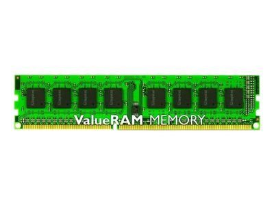 Kingston ValueRAM - DDR3 - 8 GB - DIMM 240-pin - 1600 MHz / PC3-12800 - CL11 - 1.5 V - ikke-bufret - ikke-ECC (KVR16N11/8)