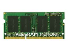 Kingston ValueRAM - DDR3 - 4 GB - SO DIMM 204-pin - 1333 MHz / PC3-10600 - CL9 - 1.5 V - ikke-bufret - ikke-ECC