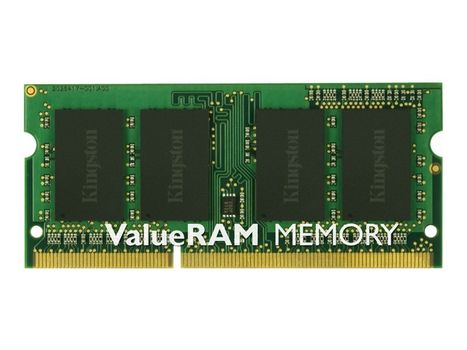 Kingston ValueRAM - DDR3 - 8 GB - SO DIMM 204-pin - 1333 MHz / PC3-10600 - CL9 - 1.5 V - ikke-bufret - ikke-ECC