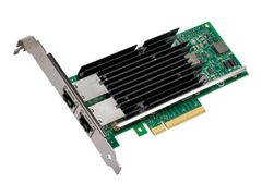 Intel Ethernet Converged Network Adapter X540-T2 - Nettverksadapter - PCIe 2.1 x8 lav profil - 10Gb Ethernet x 2